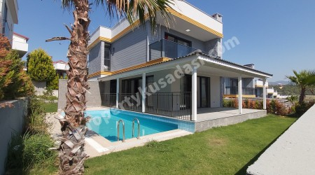 New Detached Villa with Private Pool in Close to Mall in Kusadasi