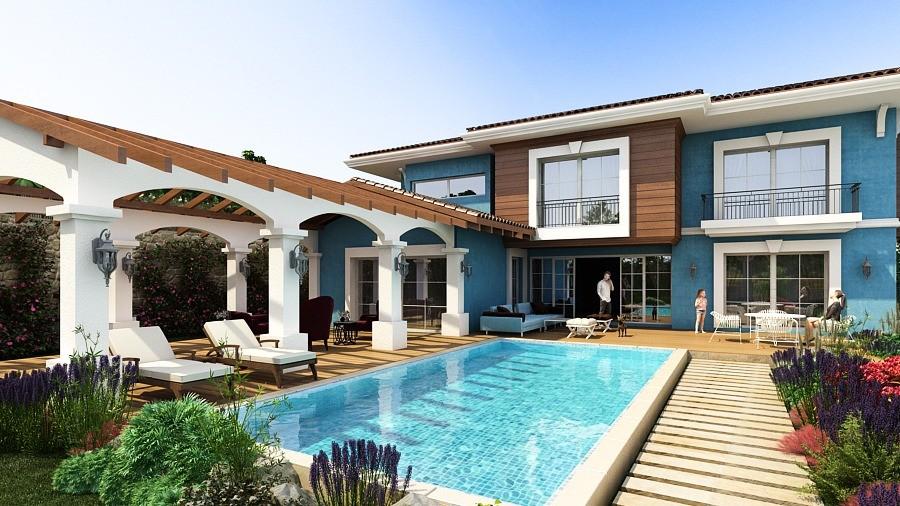Luxury Exclusive Detached Villa in 1200sqm Private Plot in Kusadasi